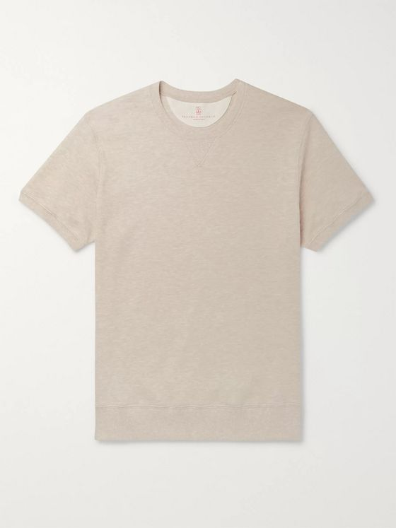 Brunello Cucinelli Mélange Cotton-Blend Sweatshirt