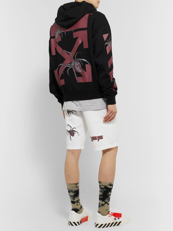 Off-White Logo-Print Loopback Cotton-Jersey Hoodie