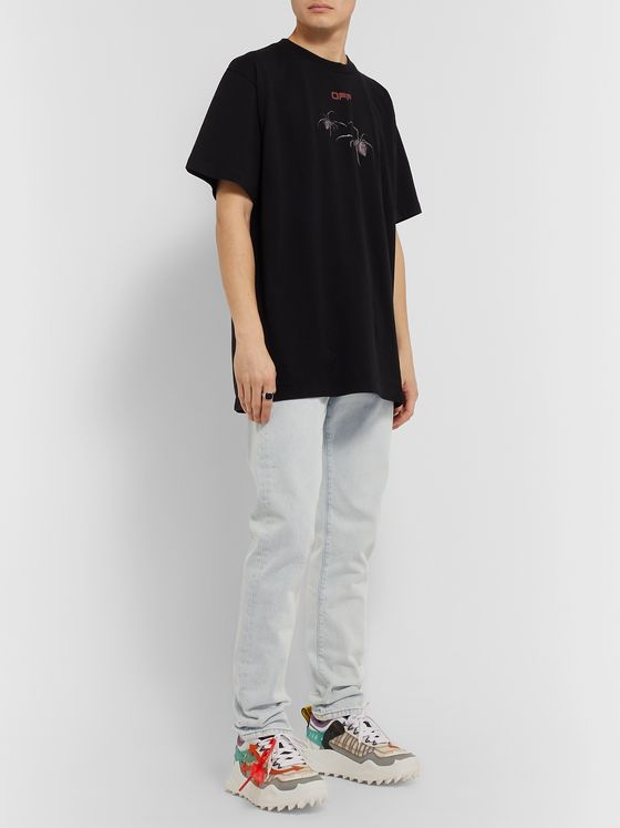 Off-White Slim-Fit Bleached Denim Jeans