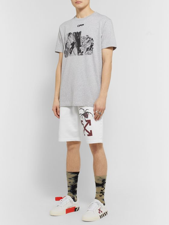 Off-White Printed Loopback Cotton-Jersey Shorts