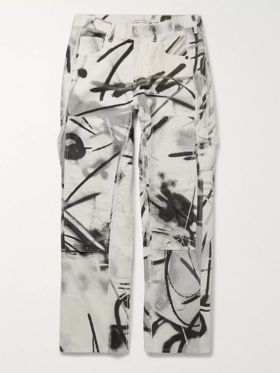 Off-White Printed Cotton-Canvas Cargo Trousers