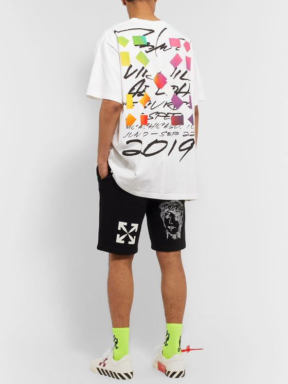Off-White +Futura Oversized Printed Cotton-Jersey T-Shirt