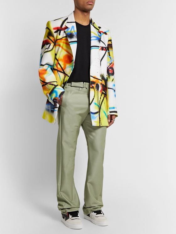 Off-White Oversized Printed Woven Blazer