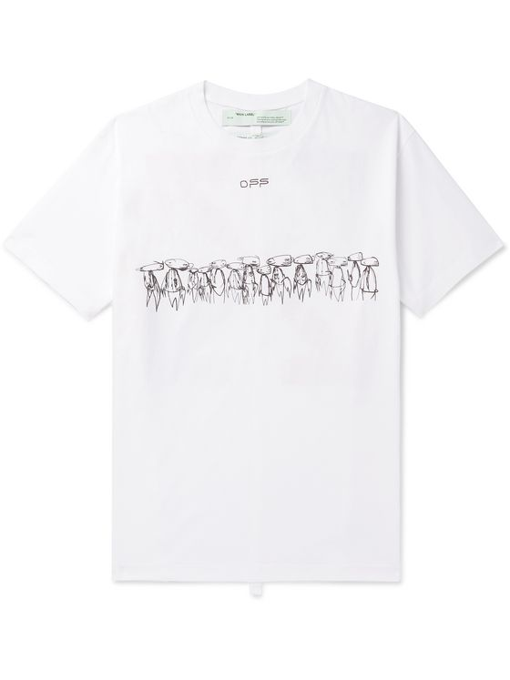 Off-White +Futura Oversized Logo-Print Cotton-Jersey T-Shirt