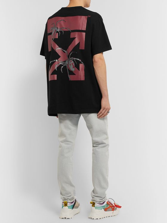 Off-White Oversized Logo-Print Cotton-Jersey T-Shirt