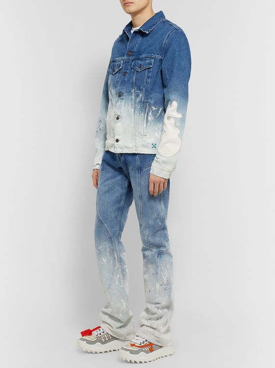 Off-White Paint-Splattered Dégradé Denim Jeans