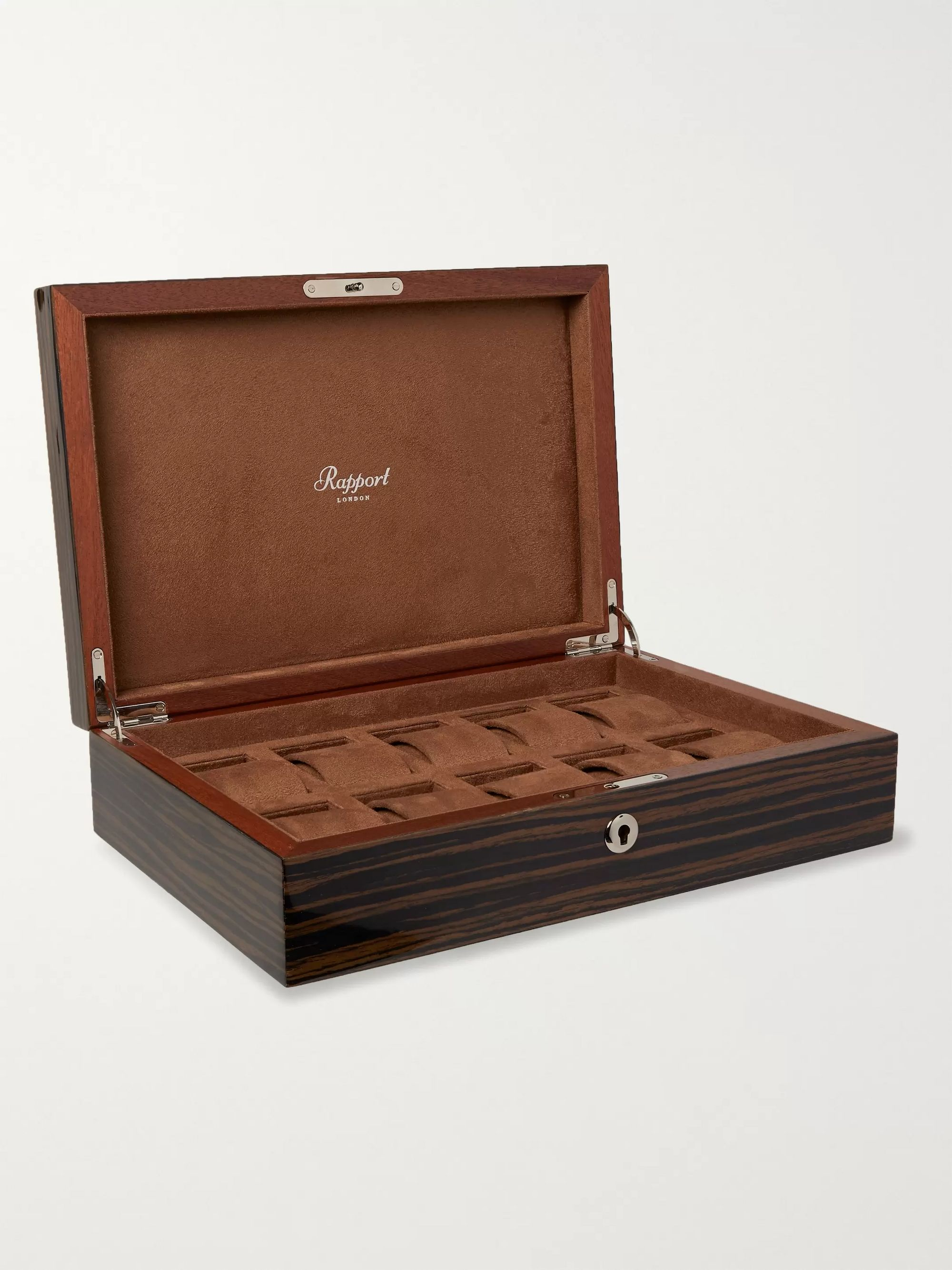 Rapport London Lacquered Cedar Watch Box