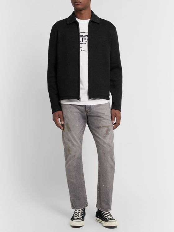 rag & bone Merino Wool-Blend Zip-Up Cardigan