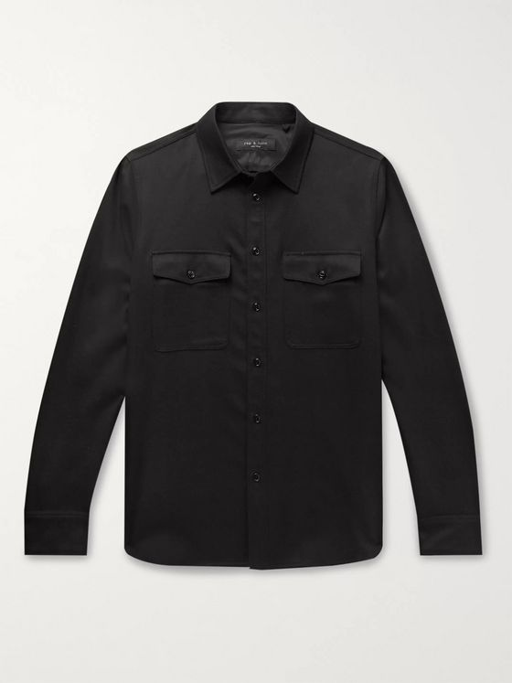 rag & bone Brushed Wool-Blend Twill Shirt Jacket