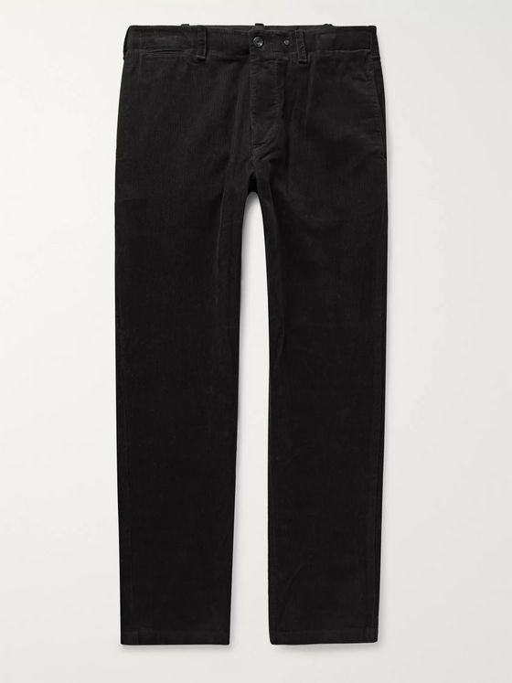 rag & bone Black Daniel Slim-Fit Cotton-Corduroy Trousers