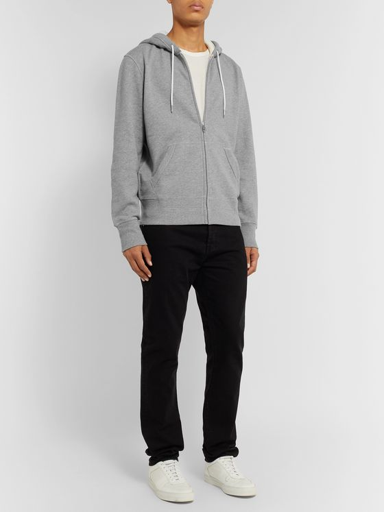 rag & bone Loopback Cotton-Jersey Zip-Up Hoodie
