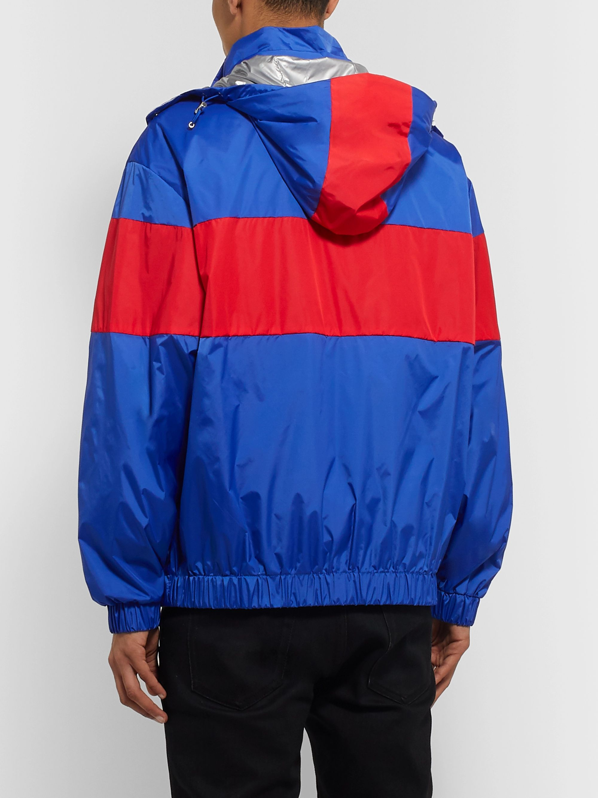 Moncler Logo-Appliquéd Colour-Block Nylon Jacket