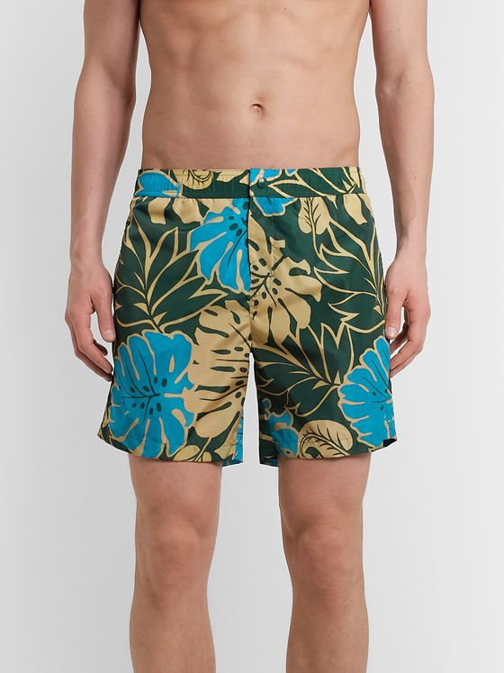 Moncler Mid-Length Printed Swim Shorts