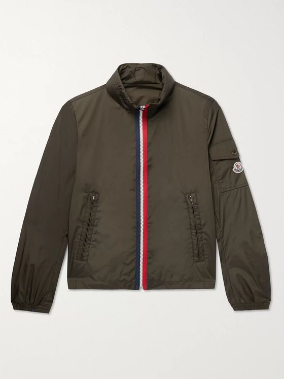 Moncler Striped Shell Bomber Jacket