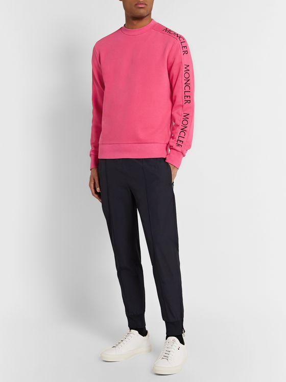 Moncler Slim-Fit Logo-Embroidered Loopback Cotton-Jersey Sweatshirt