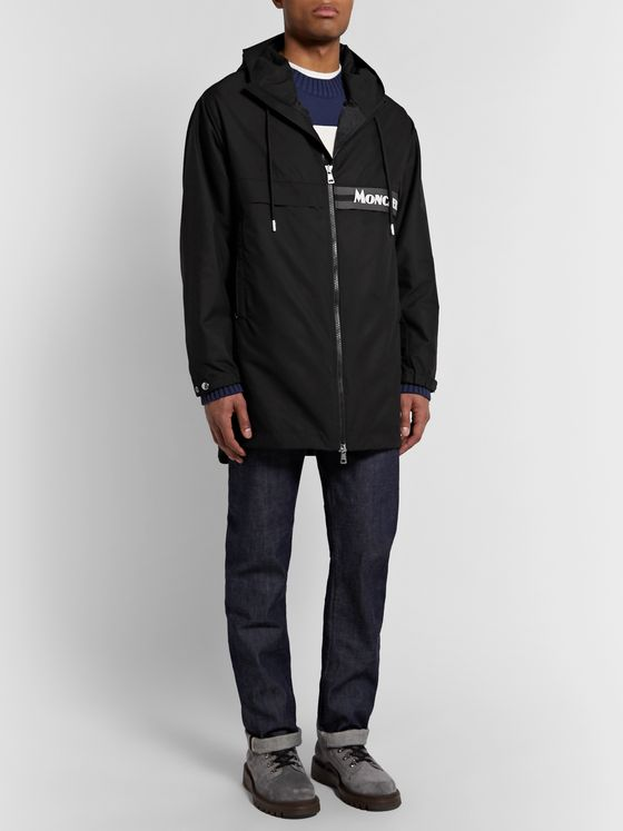 Moncler Ildut Reflective-Trimmed Logo-Print Shell Hooded Jacket