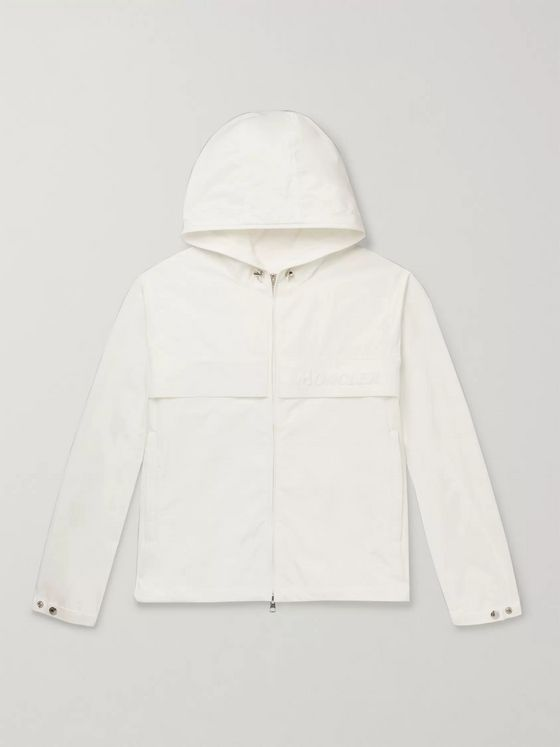 Moncler Logo-Embossed Shell Hooded Jacket