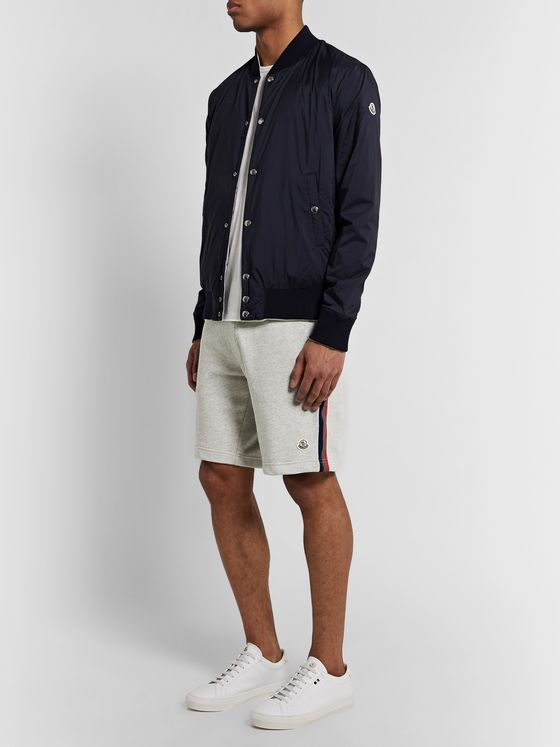 Moncler Logo-Appliquéd Webbing-Trimmed Loopback Cotton-Jersey Shorts