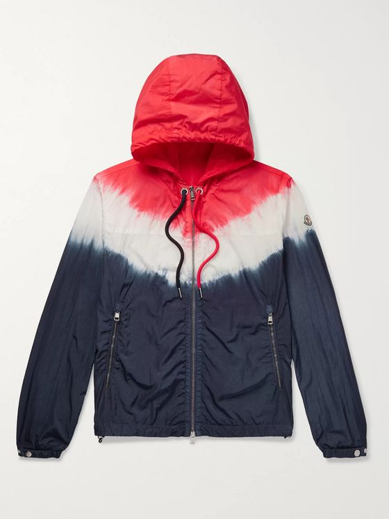 Moncler Slim-Fit Tie-Dyed Shell Hooded Windbreaker
