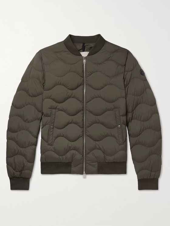 Moncler Quilted Shell Down Bomber Jacket