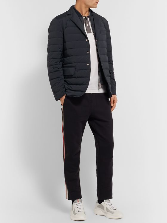 Moncler Slim-Fit Quilted Shell Down Blazer