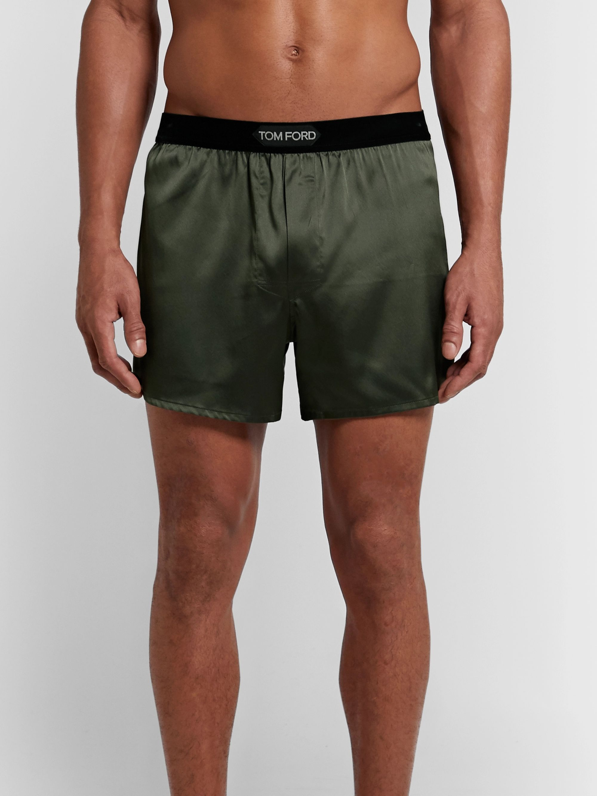 Olive Green 100/% Cotton Military Boxer Shorts