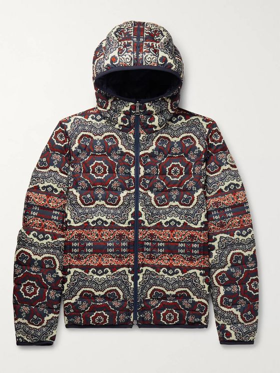 Moncler Slim-Fit Reversible Bandana-Print Quilted Shell Hooded Jacket