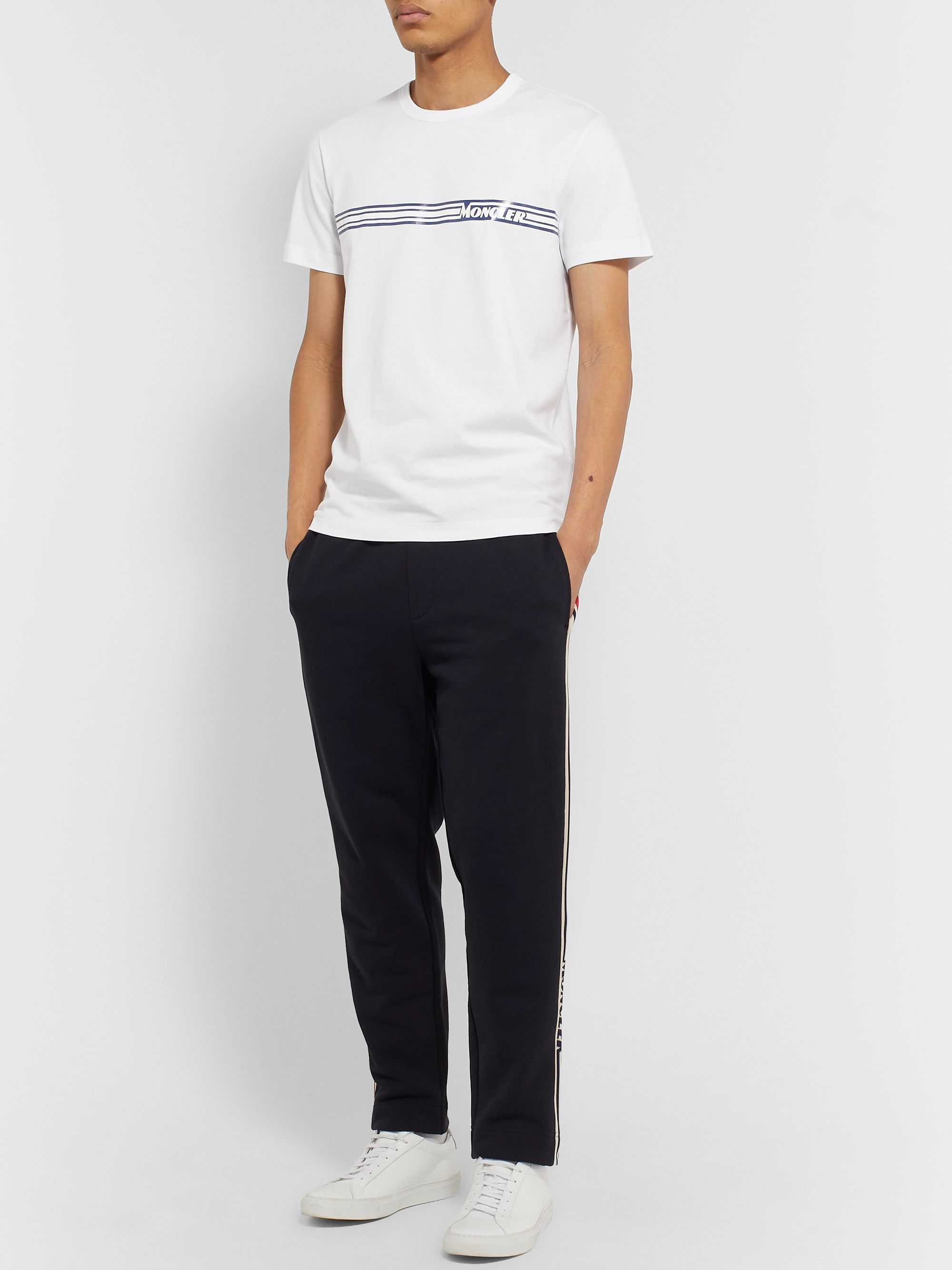 Moncler Slim-Fit Logo-Print Cotton-Jersey T-Shirt