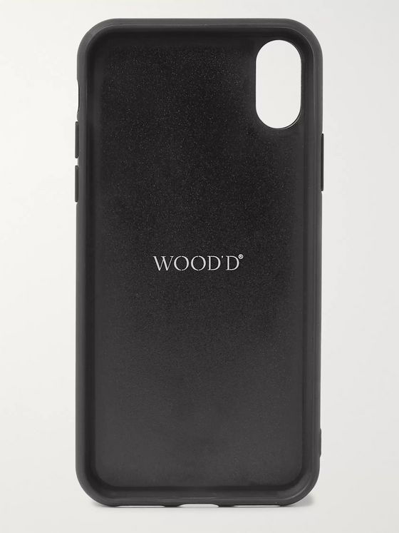 Linley Rubber-Trimmed Macassar and Sycamore iPhone X/XS Case