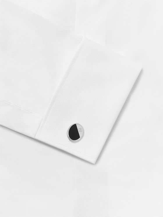 Dunhill Silver-Tone and Enamel Cufflinks