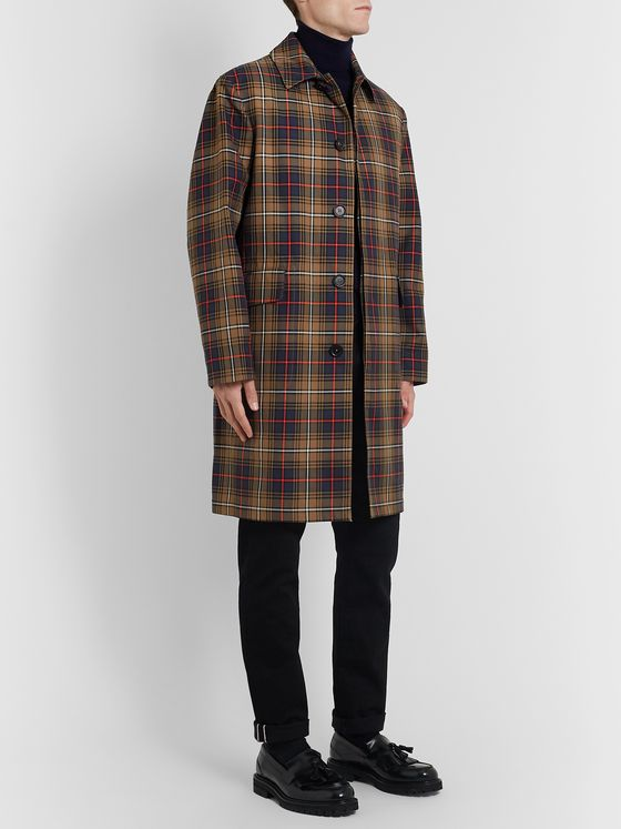 MR P. Checked Twill Overcoat