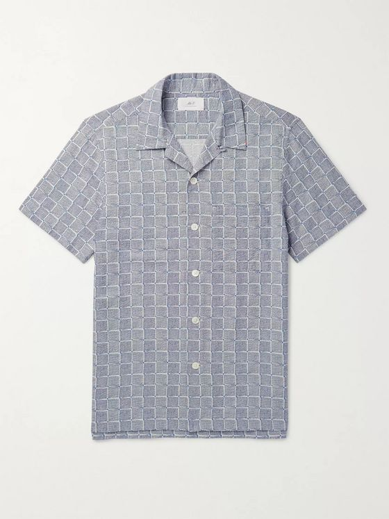 Mr P. Printed Cotton-Seersucker Shirt