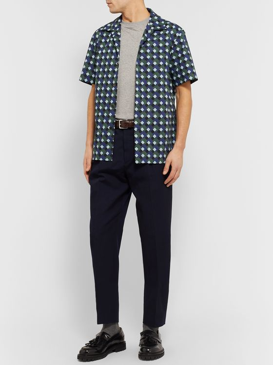 MR P. Camp-Collar Printed Cotton Shirt
