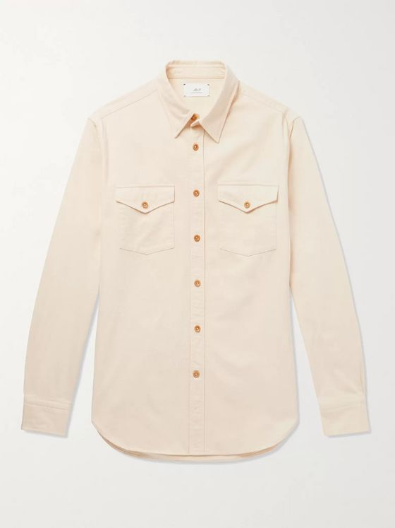 MR P. Button-Down Collar Cotton-Twill Shirt