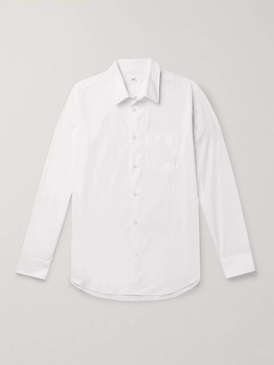 Mr P. Slim-Fit Cotton-Poplin Shirt