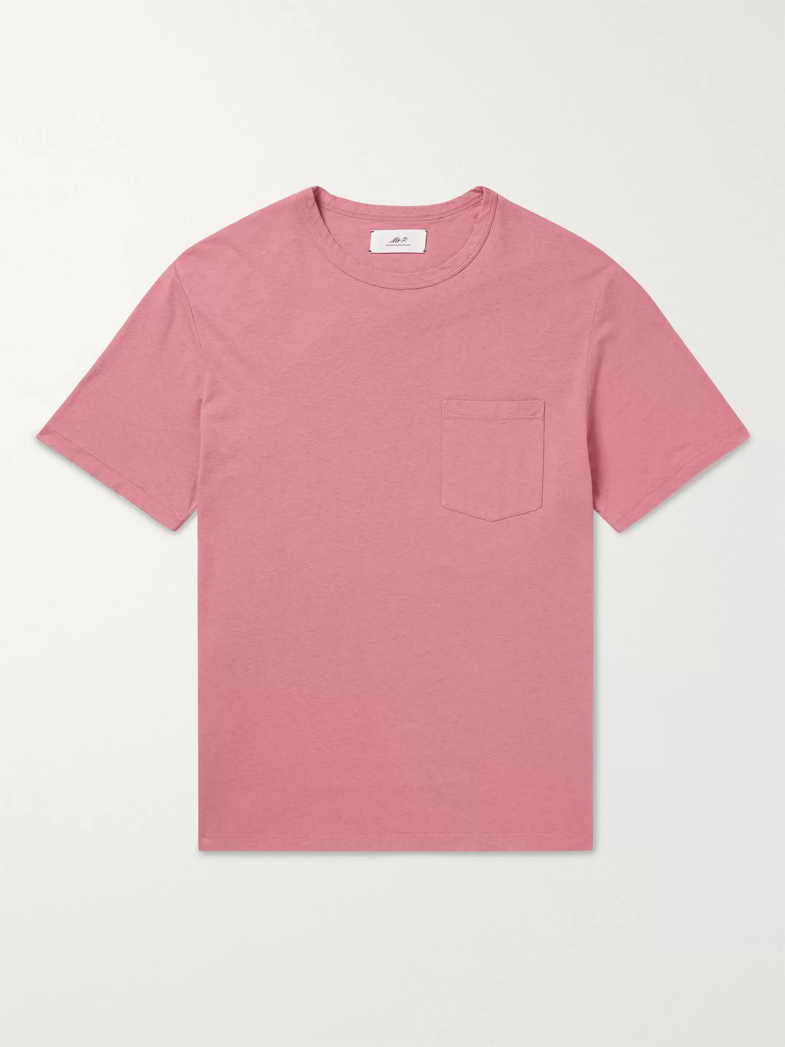 mr p. - cotton and linen-blend t-shirt - men - pink