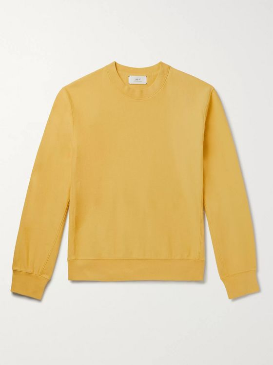 Mr P. Garment-Dyed Loopback Cotton-Jersey Sweatshirt