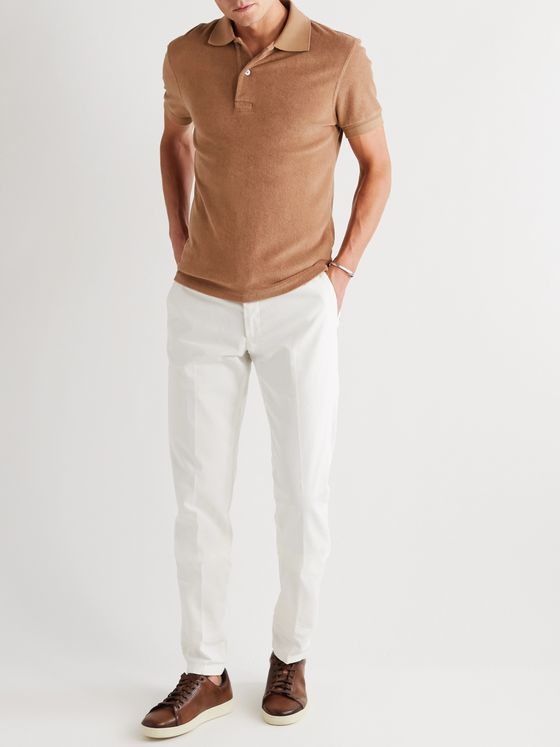 TOM FORD Slim-Fit Cotton-Terry Polo Shirt