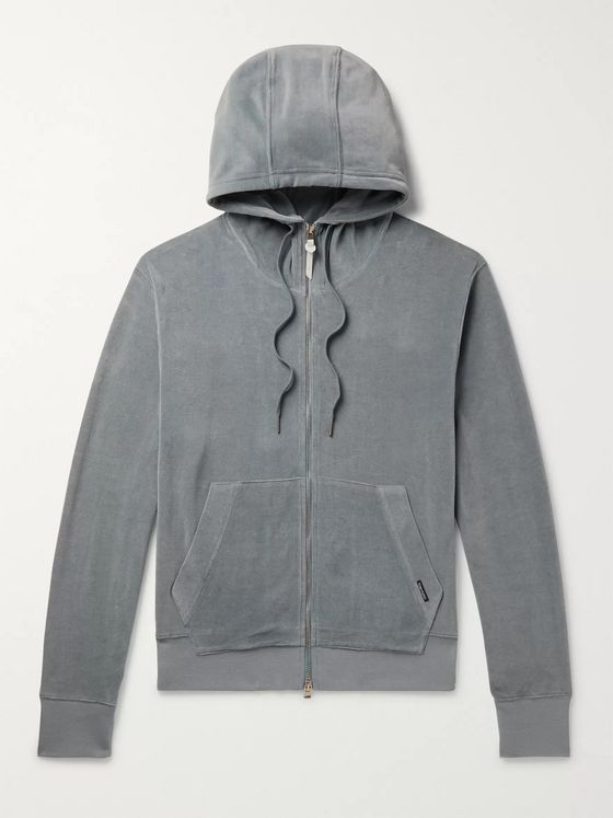 TOM FORD Cotton-Blend Velour Zip-Up Hoodie