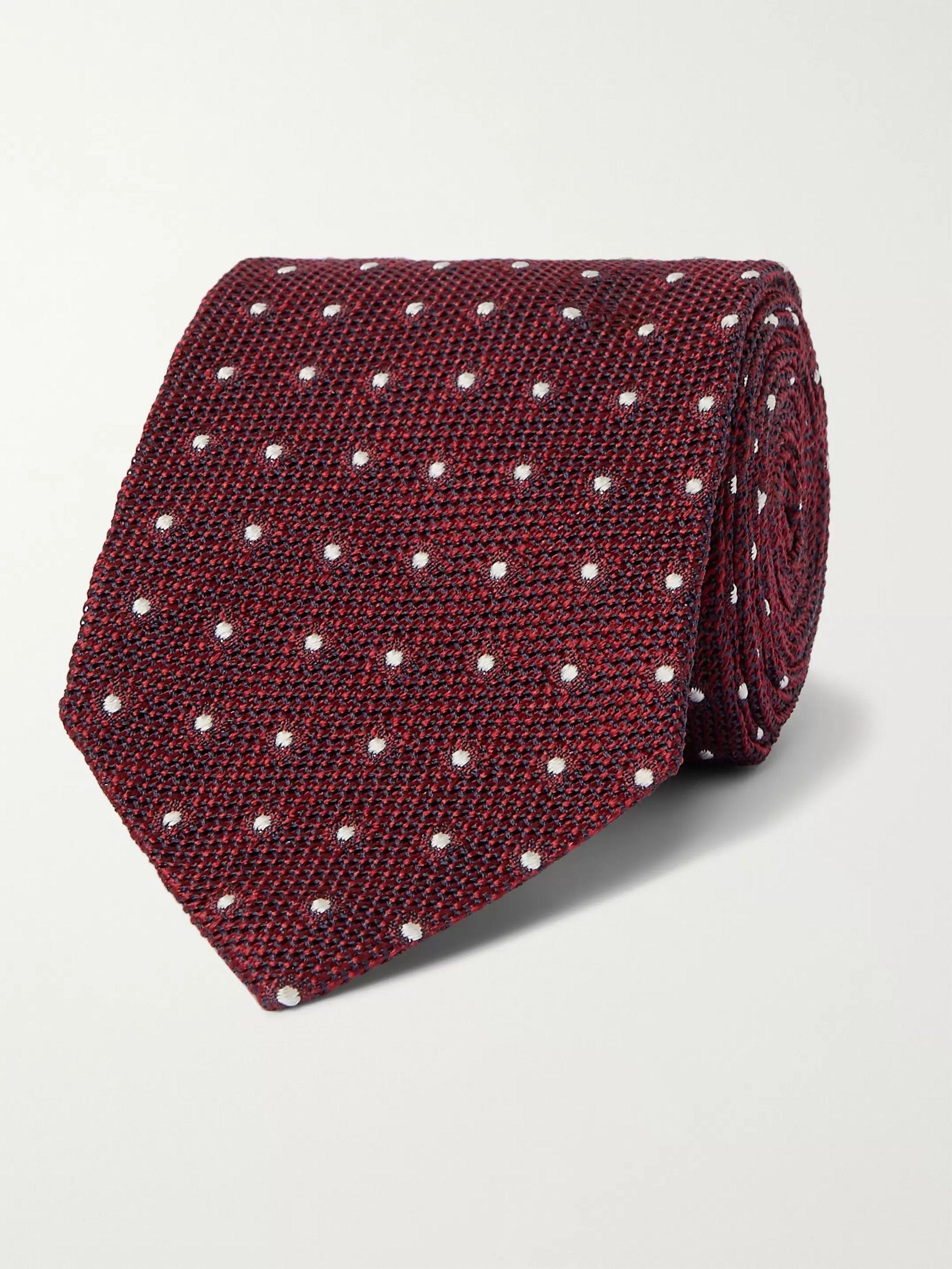 Burgundy 8cm Polka-Dot Silk-Jacquard Tie | TOM FORD | MR PORTER