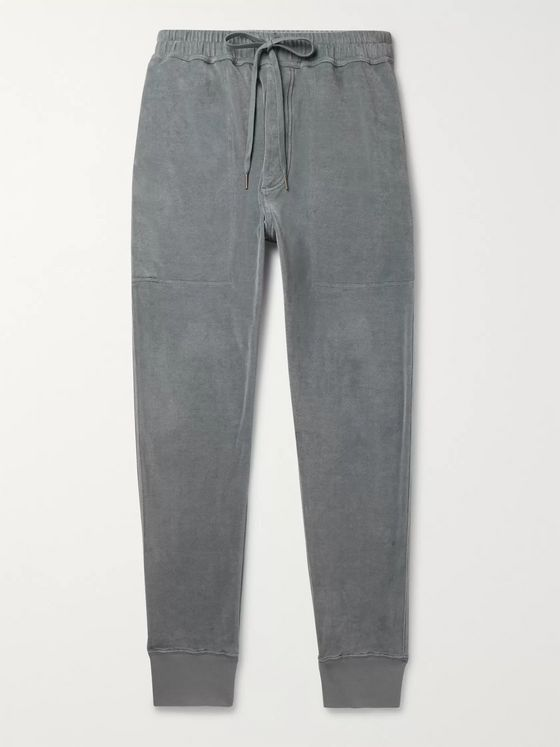TOM FORD Tapered Cotton-Blend Velour Sweatpants