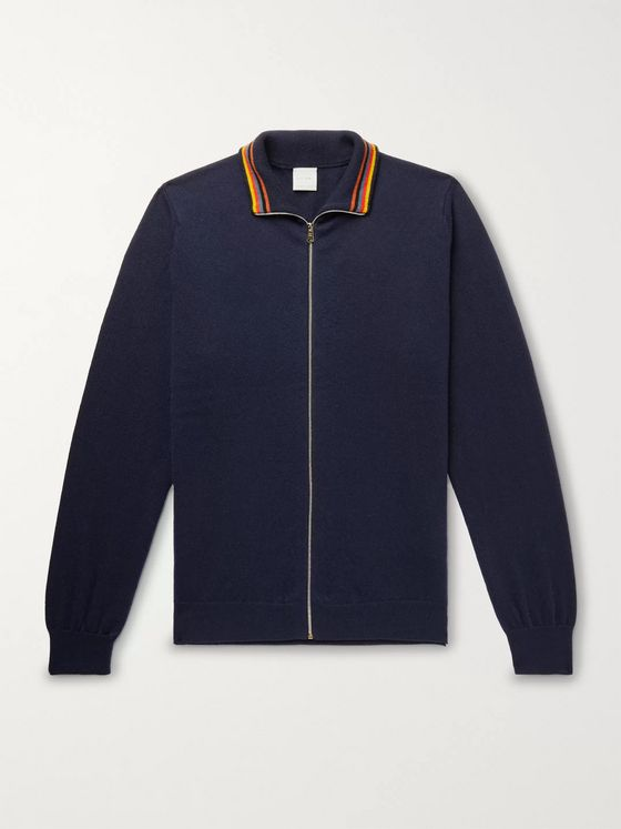 Paul Smith Cashmere Zip-Up Cardigan