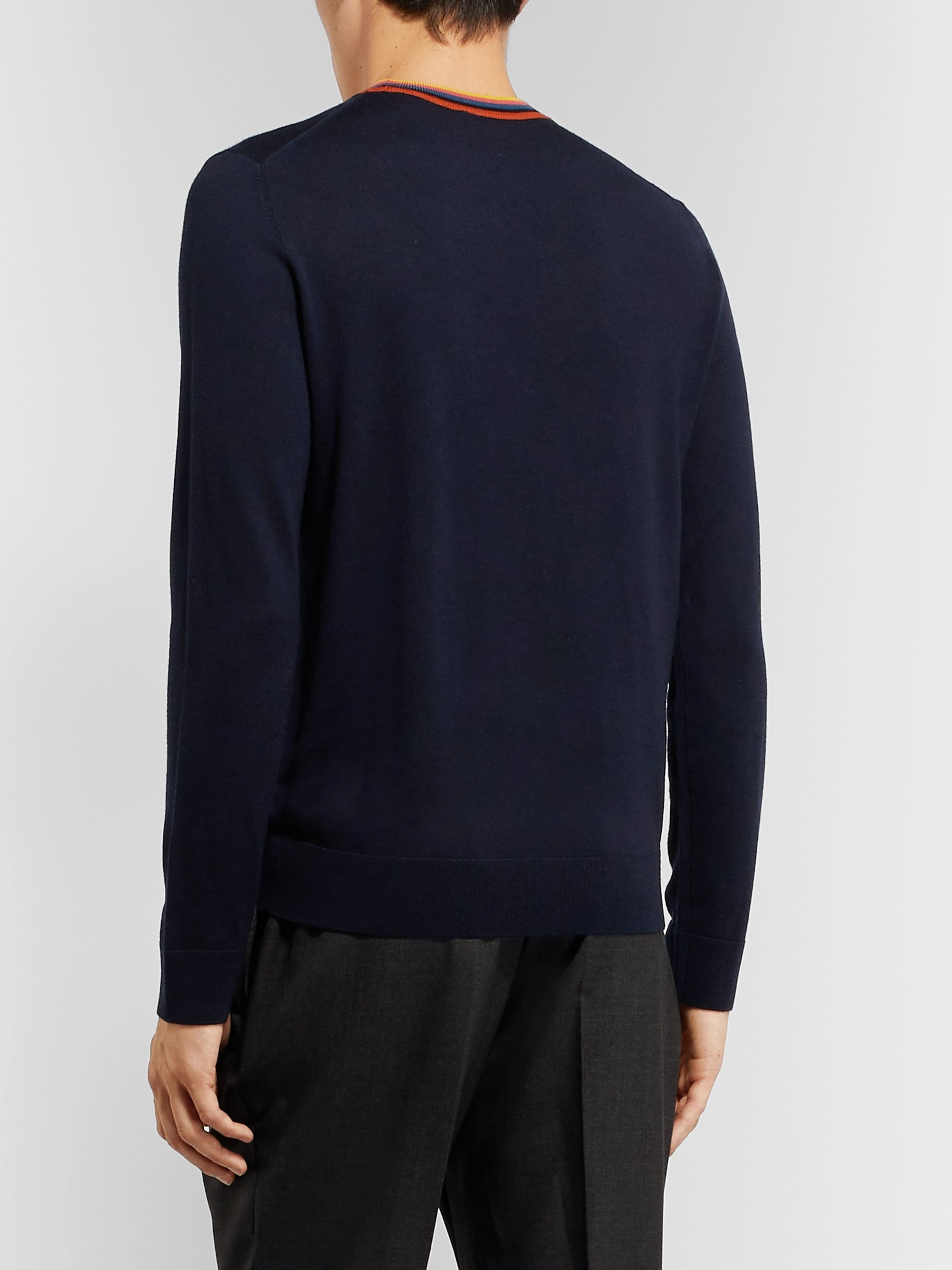 Paul Smith Slim-Fit Striped Merino Wool Sweater