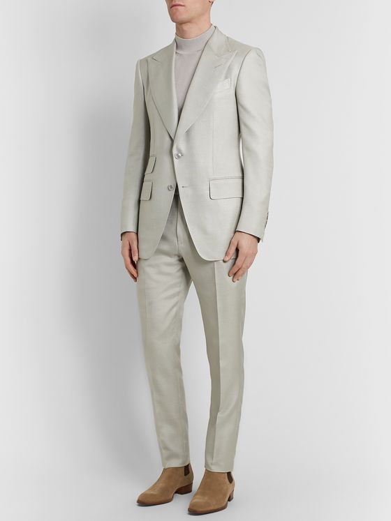 TOM FORD Atticus Slim-Fit Silk Suit Trousers