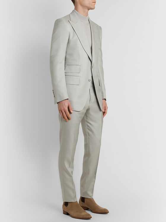 TOM FORD Atticus Slim-Fit Silk Suit Jacket