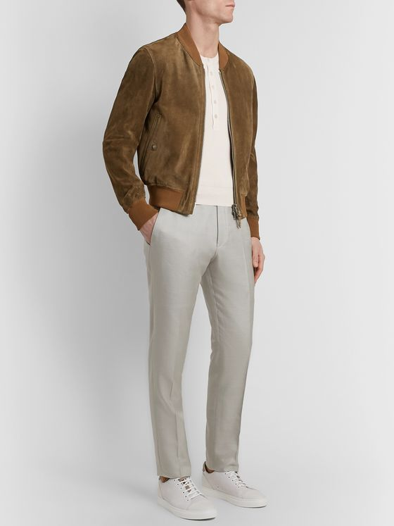 TOM FORD Knitted Silk Henley Sweater