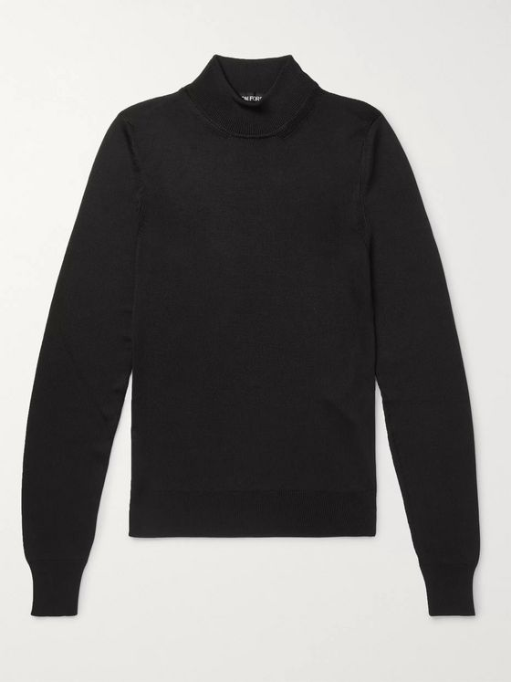 TOM FORD Slim-Fit Silk Mock-Neck Sweater