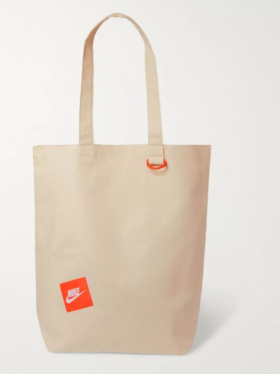 Nike Logo-Appliquéd Cotton-Canvas Tote Bag