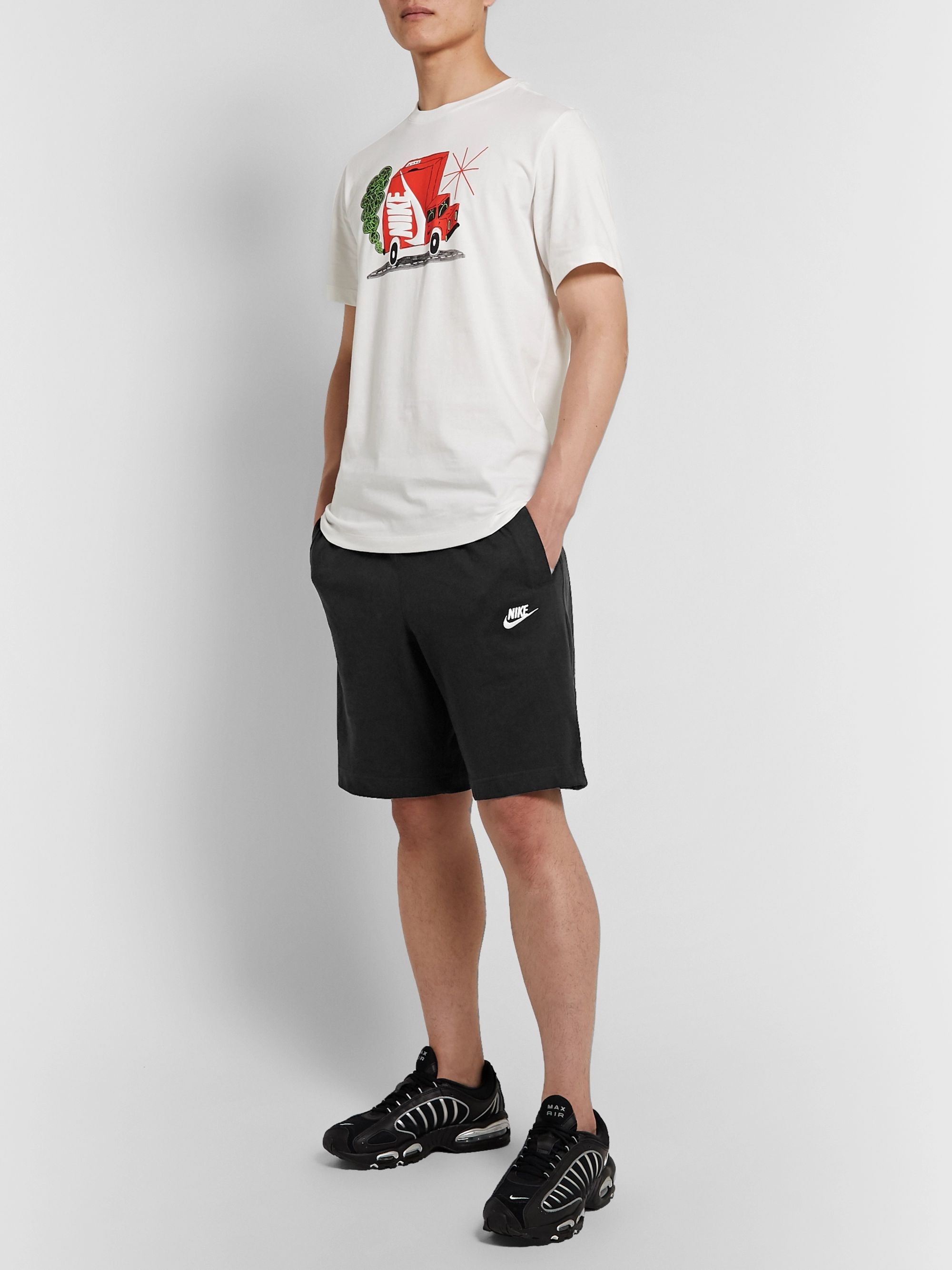 Nike Sportswear Club Cotton-Jersey Drawstring Shorts