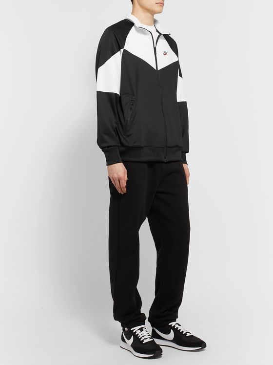 Nike Colour-Block Stretch-Shell Zip-Up Sweatshirt